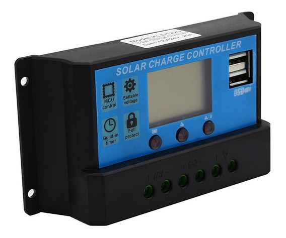Controlador De Carga Solar 30a Automátic Painéis Solares Pwm