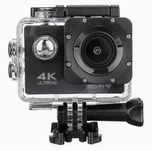 Câmera Filmadora 4k Sports Wi-fi Prova D'água C/ Acessórios
