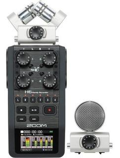 Gravador Portátil Zoom H6 Com Microfones Intercambiáveis