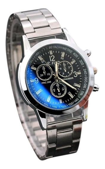 Relógio Masculino Mostrador Muda De Cor Azul E Preto