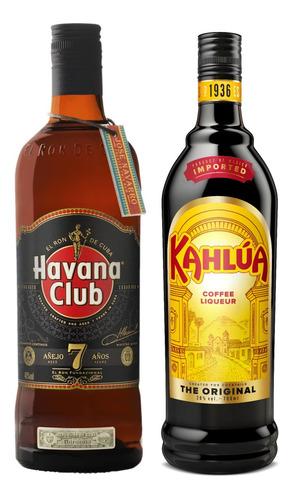 Kit Licor De Café Kahlúa 750ml + Rum Havana 7 Anos 750ml