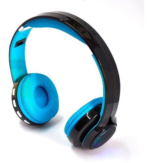 Fone Ouvido Bluetooth 4.2 Exbom Hf-420bt Azul