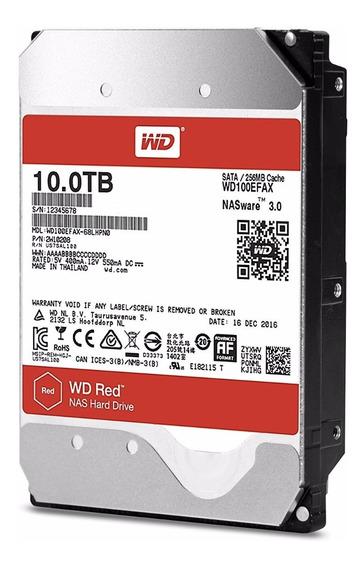 Hd Western Digital 10tb Wd Red Sata 3 Wd100efax 256mb
