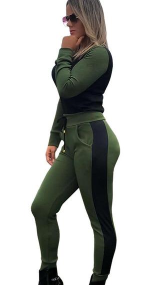 Conjunto Plus Size Feminino Tip Moletinho Frio Inverno Moda