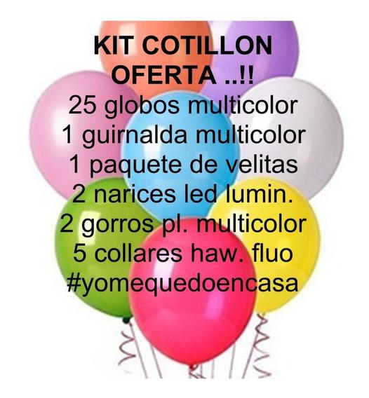 Kit Cotillon Combo Oferta Festejemos En Casa Cumpleaños
