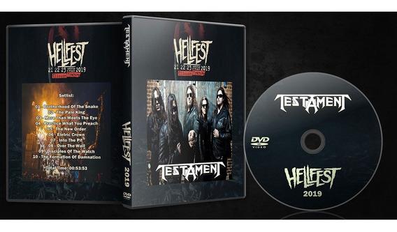 3 Dvds Metal - Testament Anthrax Within Temptation 2019
