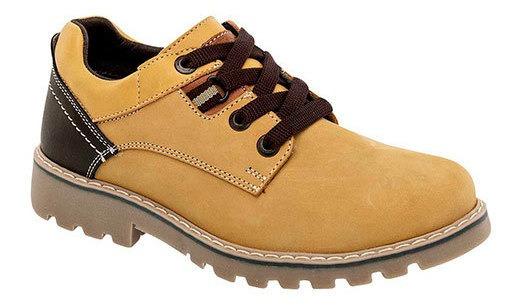 Yuyin Sneaker Casual Escolar Niño Amarillo Piel N20119 Udt