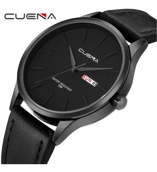 Relógio Unissex Quartzo Analógico Casual Marca Cuena