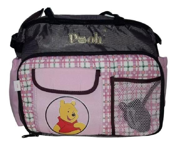 Bolso Maternal Pañalero Con Cambiador Disney Bebe Minnie Mickey 1199