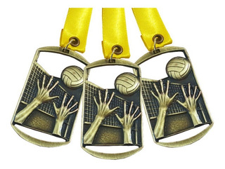 Lote 80 Medallas Metálicas Para Voleibol Oro, Plata O Bronce