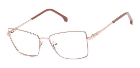 Armação Oculos Ogrife Og 720-c Feminino Com Lente Sem Grau