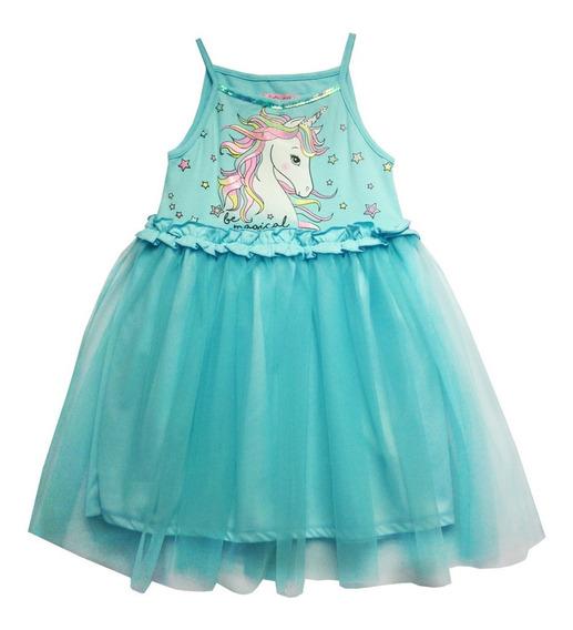 Vestido De Tirantes Aqua (35885-a)