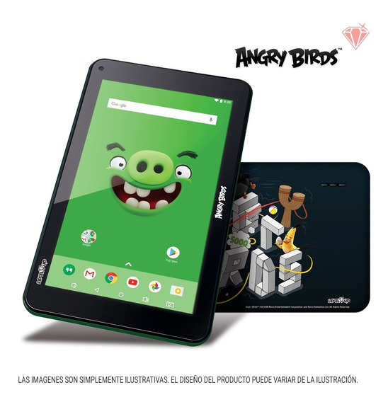 Tablet 7 Pulgadas Angry Birds Level Up Niños 8gb Android Wifi Bt