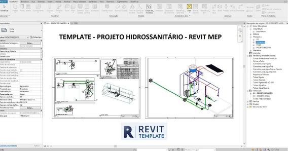 Template - Revit Mep Projeto Hidrossanitário + Bônus