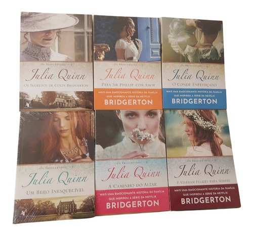 Kit Livros 4 Ao 9 Série Os Bridgertons Coleção Julia Quinn