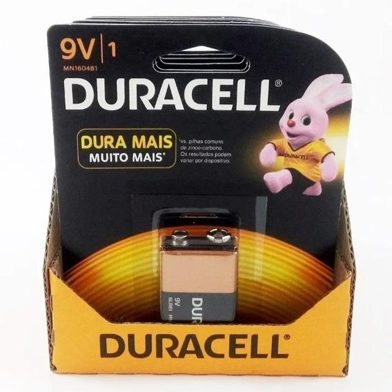Bateria Duracell 9v Original - Kit C/12 Unidades