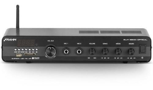 Amplificador Multiuso Frahm Slim 2200 Optical - 120w Rms, Bl