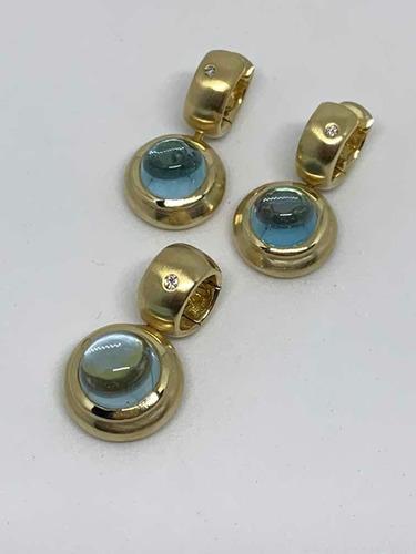 Glitter Brincos E Pingente H Stern Ouro Diamantes E Topázios