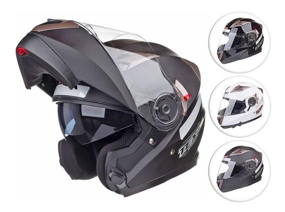 Capacete Texx Gladiator Articulado Robocop Viseira Solar