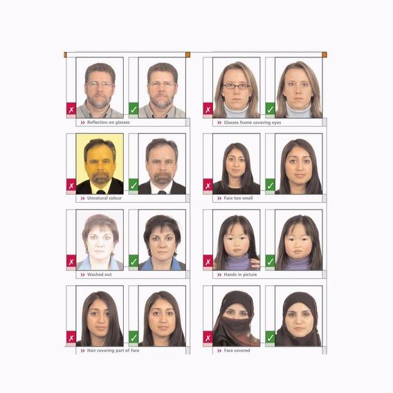 Foto Carnet Visa Pasaporte Europa En El Acto