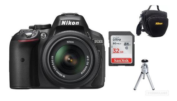 Câmera Nikon D5300 Af-p18-55mm +32gb+bolsa+tripé