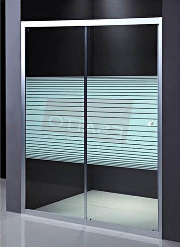 Imagen 1 de 4 de Esatto® Cancel Baño Recto Cristal Templado Aluminio