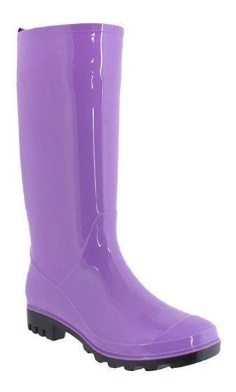 Botas De Lluvia Para Mujer Impermeables Jalea Opaca Purple M
