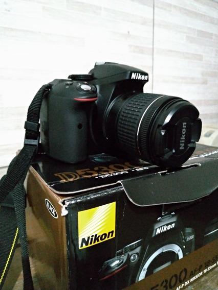 Camera Nikon D5300 Full Hd 28-55mm + 64gb + Bolsa + Tripe