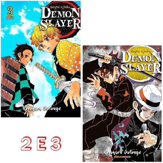 Demon Slayer 2 E 3! Mangá Panini! Lacrado! Kimetsu No Yaiba