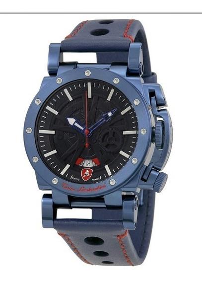 Reloj Lamborghini Centenary Blue - Swiss Made A Pedido