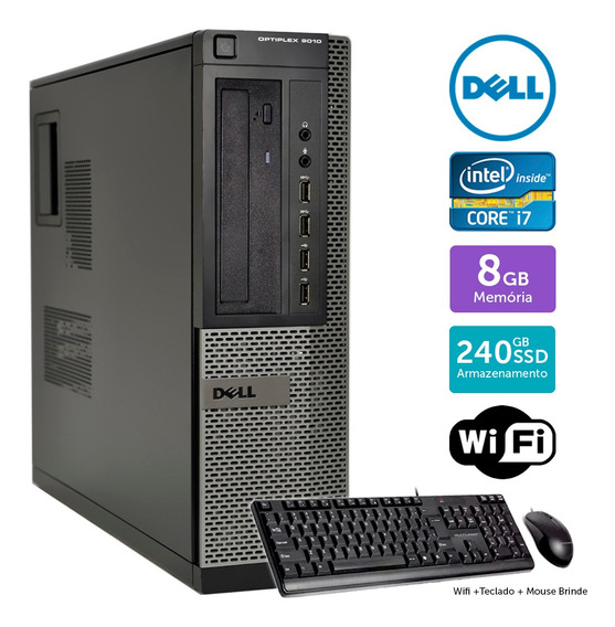 Desktop Usado Dell Optiplex 9010int I7 8gb Ssd240 Brinde