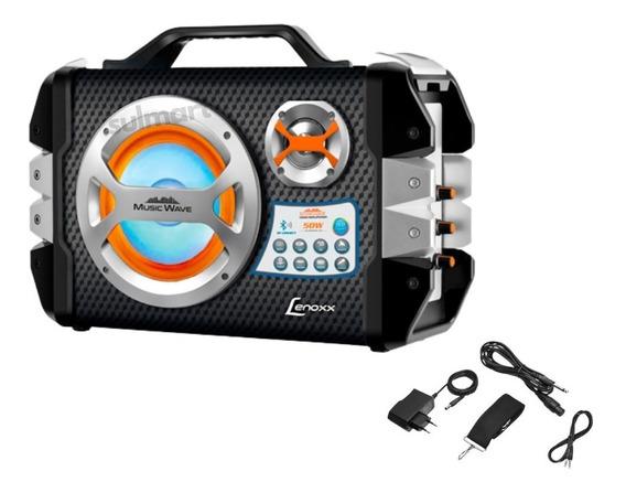 Caixa De Som Amplificada Lenoxx Ca303 Microfone E Acessórios