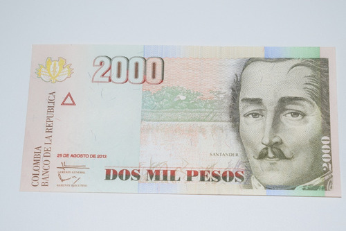Imagen 1 de 2 de Billete Radar 2000 Mil Pesos Colombia
