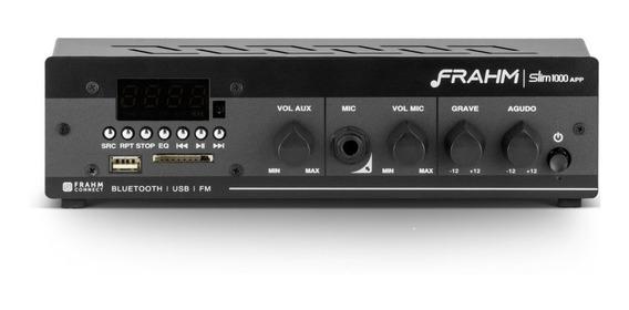 Amplificador Frahm Slim 1000app G2 Bluetooth Usb/sd/fm