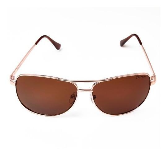 Óculos Triton A2148 - Dourado - Metal - 12x Sem Juros
