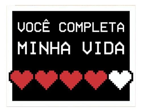 Placa Decorativa Namorados Gamer Você Completa Minha Vida