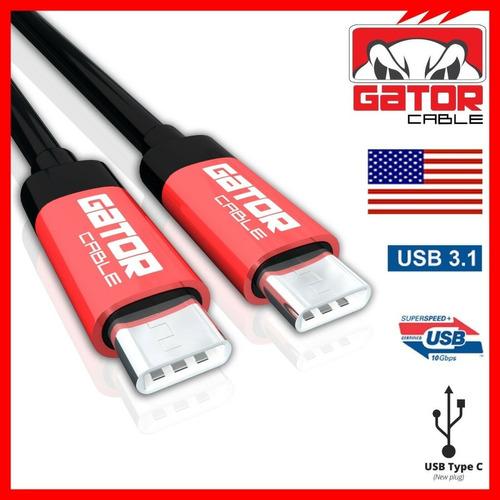 Cable Usb-c A Usb-c 3.1 Macho A Macho Carga Rápida 6 Pies