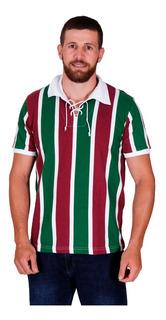 Nova Camisa Fluminense Retro Tricolor Cordinha 1910