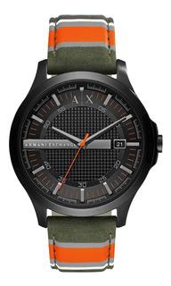 Reloj Armani Hombre Nylon Fecha Agente Oficial Ax2198