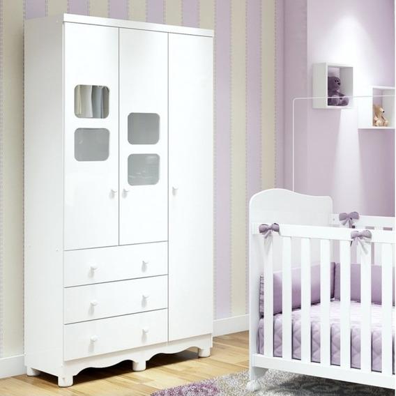 Guarda Roupa De Bebê 3 Portas 3 Gavetas Uli Móveis He
