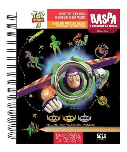 Imagen 1 de 3 de Libro Actividades Raspa Y Descubre Niño Disney Toy Story 3