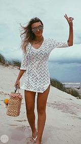 Saída De Praia Rendada Tricot Croche Verão Blogueiras Lotus