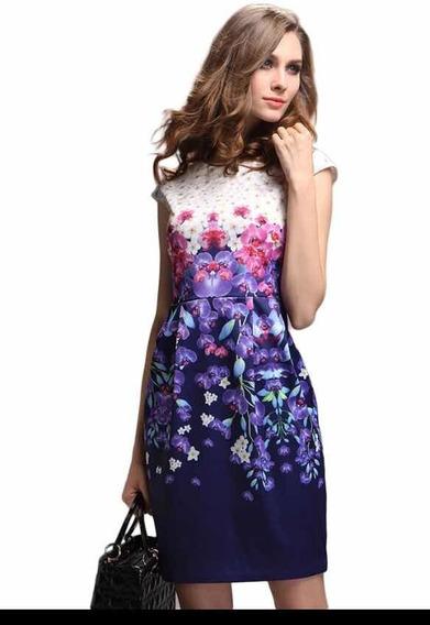 Vestido Floral, Tipo Antix/ Cuplover