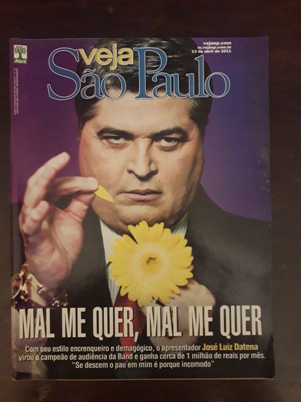 Revista Veja Sp, José Luis Datena Na Capa, Preservada.