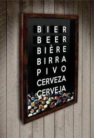 Pt01-quadro Porta Rolhas Cervejas
