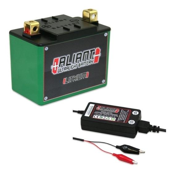 Bateria Moto Litio Aliant Ylp24 + Carregador Cb1203 3a