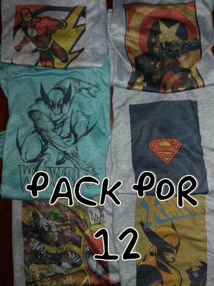 Remeras De Niño Pack Por 12