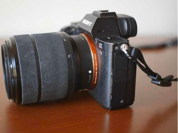 Câmera Sony A7ii A7 2 A7m2 Alpha 7 Ii + Lente Sony 28-70 Fe