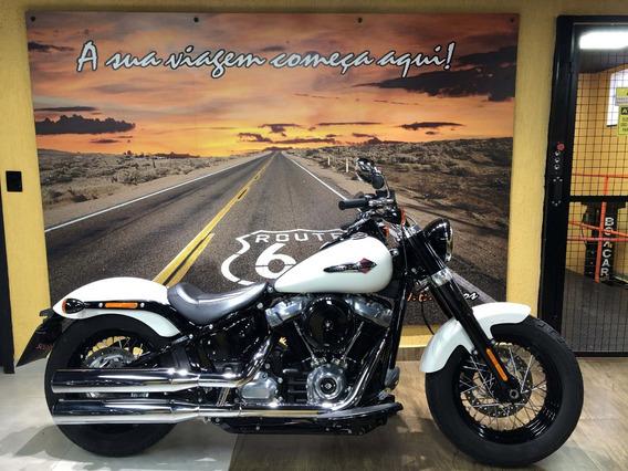 Harley Davidson Softail Slim 2018 Branca Impecavel