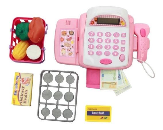 Caixa Registradora Acessórios Dinheiro Mercadinho Infantil